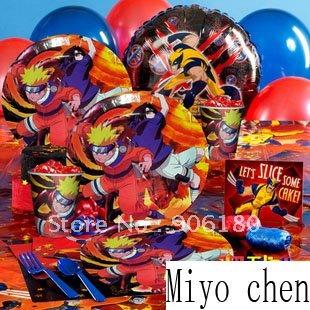 Naruto theme party supplies for 12 kids celebration on
