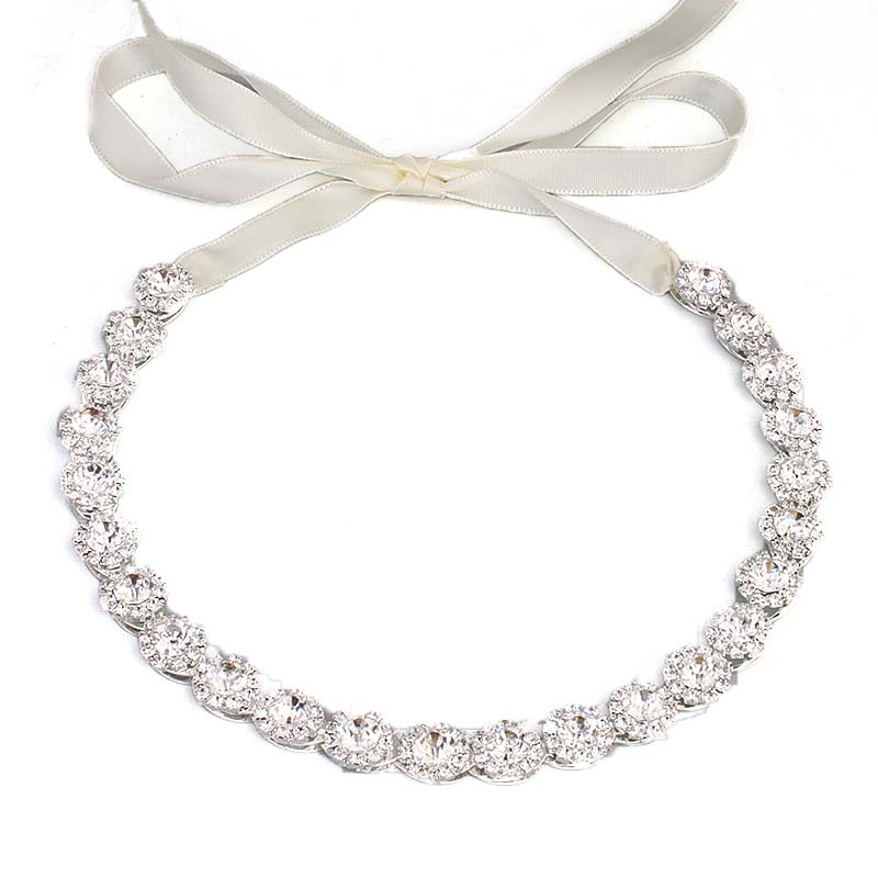 Factory direct bridal jewelry hair band handmade baroque alloy crystal diamond bridal hair accessories