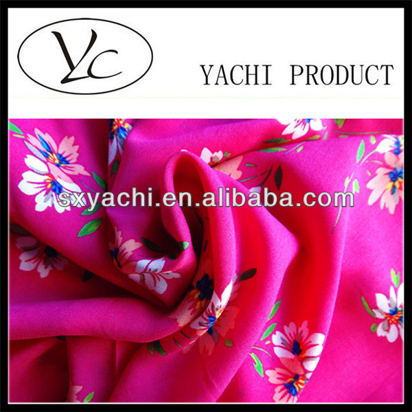 Flower designs fabric painting 100% Rayon Fabric for Muslim Dress
