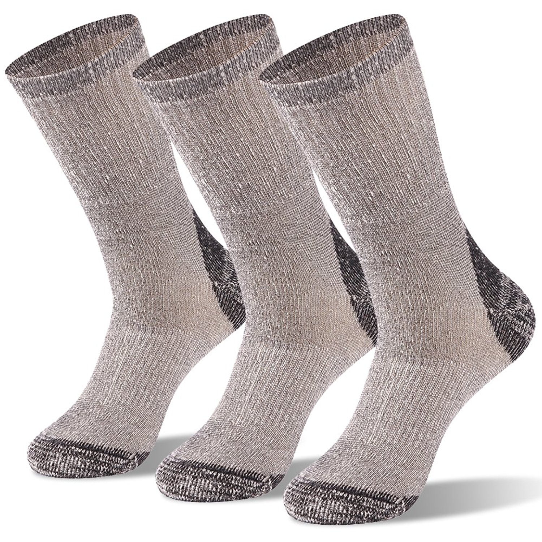 Hiking Crew Socks,saillsen Unisex Plus Size Full Cushion Anti-slip Wool Warm Sport Socks