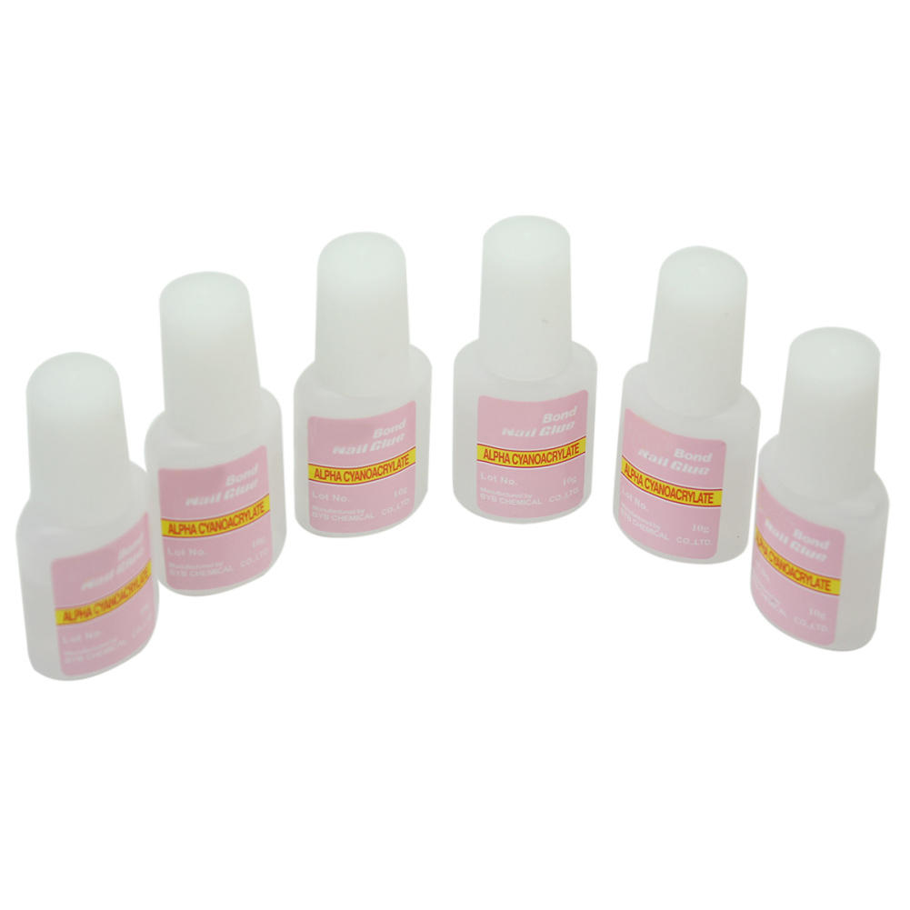 Professional 10g Nail Art Tips Glue For French Acrylic Art Decoration Home Salon With Brush Nail Glue