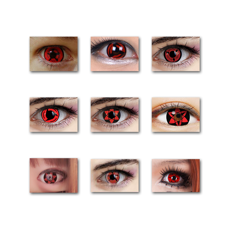 Japan Tokyo Ghost cosplay crazy funny eye red color circle contact lenses