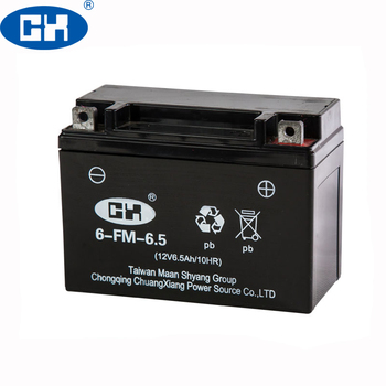 Direct Online Sale 12V 6.5Ah YTX6.5 BS Motorcycle Battery Form Battery Factory