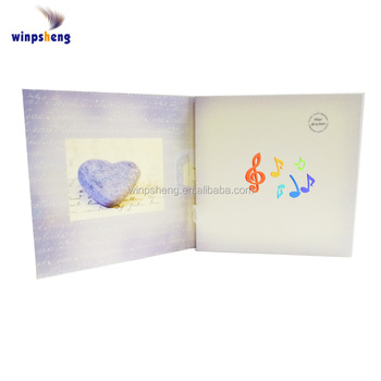 Latest Designs Musical Wedding Cards With Sound Chip