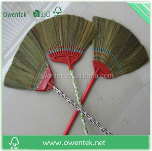 Soft cleaning garden brooms stainless steel handle with two broom head supplier