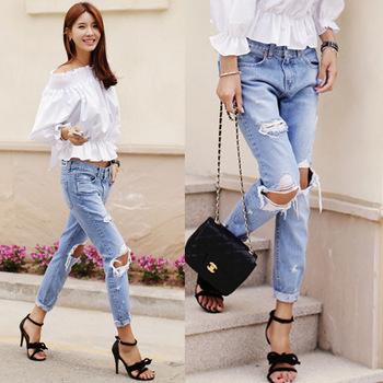Top Verkaufende Neue Mode Günstige Denim Damenhosen Engen Jean