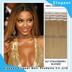 Super quality human virgin remy us tape hair extensions