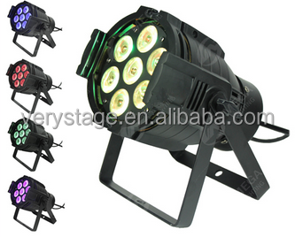 7X12w RGBW 4 in 1 led quad color par 64 can stage lighting