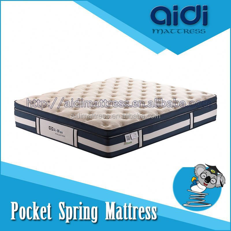 OMB-FB38 Super King Size Mable Memory Foam Comfortable Sleeping Pocket Coil Spring Mattress