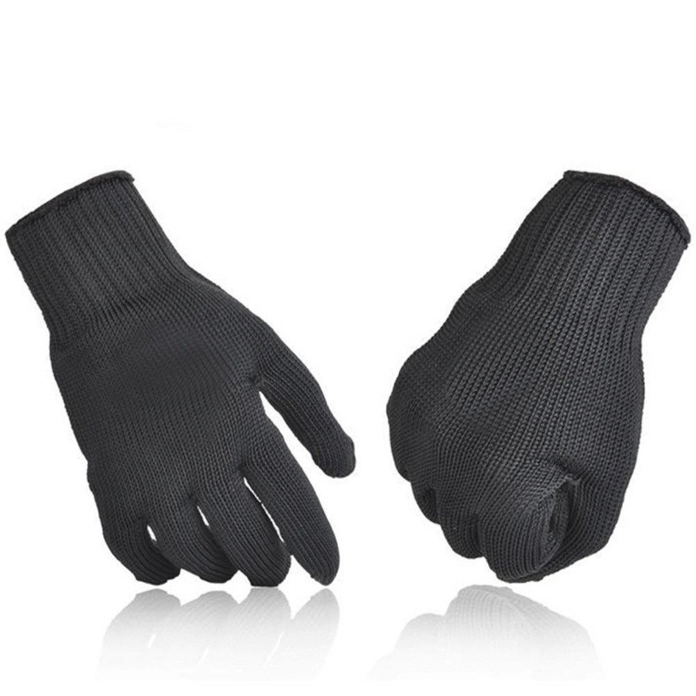 Black Anti-cutting Protective Gloves, 5-class Safety Gloves, Hand-puncture Wear-resistant And Heat-resistant Industrial Gloves
