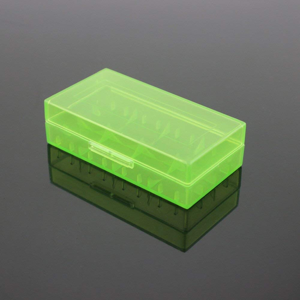 SPHTOEO 4pcs Battery Storage Case Holder/Organizer for 18650/16340/17500/CR123A Battery(Green)