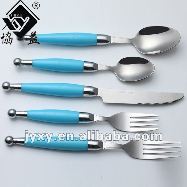 20pcs ABS handle stainless steel flatware
