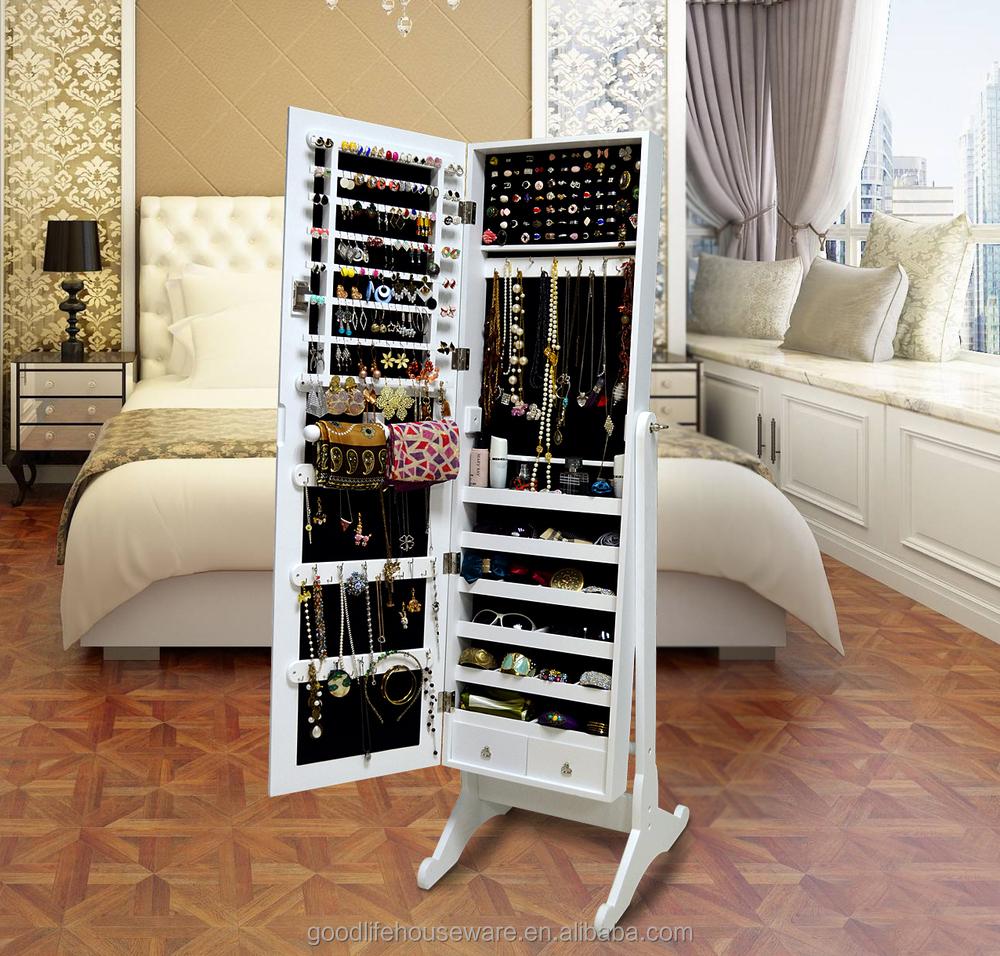 Wooden Bedroom Furniture Makeup Vanity Box 3 Way Vanity Mirror - Buy ...