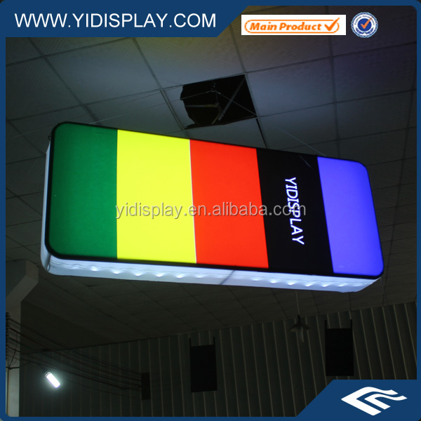 Hanging Advertisement Fabric Custom Made LED Light Signs