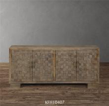 rstico gabinete de madera con puertas de parquet muebles de comedor de madera natural