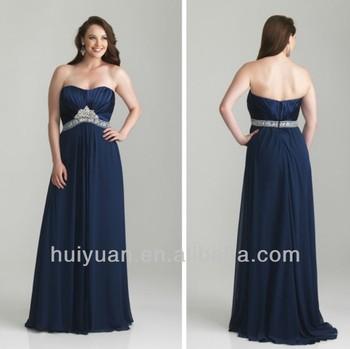 Chiffon Sweetheart Neckline Women Evening Dress For Fat Women ...