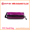 wholesaler school stationery clear plastic pvc mesh pencil case , cool round bottom pencil bag
