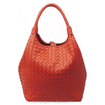 2017 Top Designer Handbags Genuine Leather Woven Bag