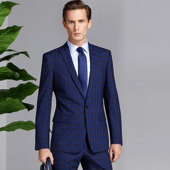 0a857aa1ed Fashion Hand Tailored Custom Made Royal Blue Suit