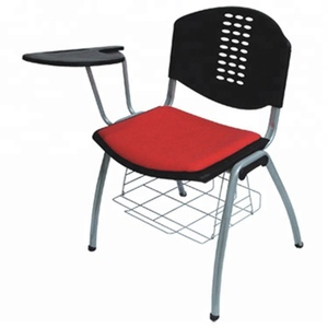 Stacking Adult Study Table Chair Lecture Chairs with Writing Board Metal Frame Student Chair