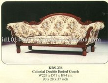 Colonial Double Ended Couch Mahogany Indoor Furniture