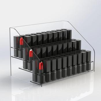 clear acrylic lipstick holder 60 holes cosmetic retail rack