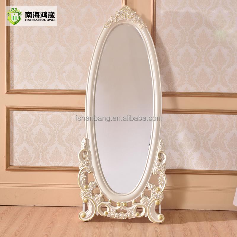 Decorativo bianco argento ovale in legno francese camera da letto in stile europeo classico - Camera da letto in francese ...