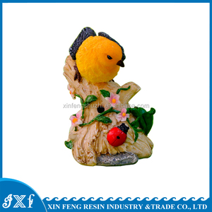 Lovely Bird Garden Ornaments Polyresin Miniature Figurine for WholeSale