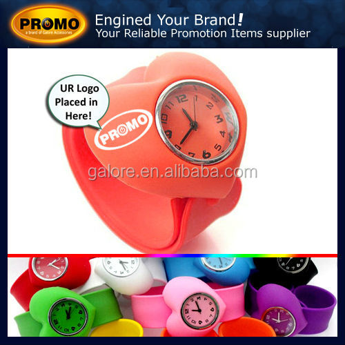 promotional multiple colors cheap silicon custom heart watch