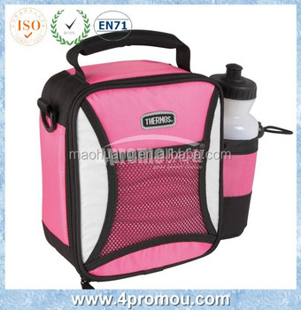 Insulated Lunch Bag With Bottle Holder Side Pocket Product On Alibaba
