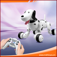 Funny remote control electronic toy rc animal smart dog with light for children