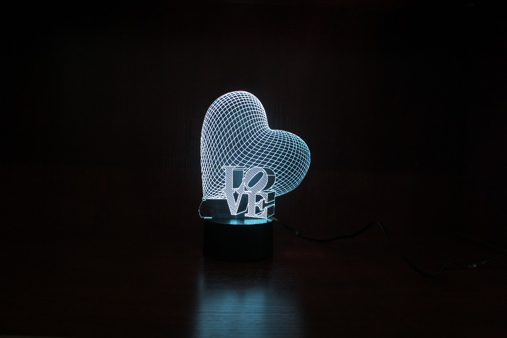 3D Led Night Light Romantic Birthday Gifts for Birth Wedding Gifts for Guests USB Operated Led Light