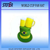 Brazil Fans Hats /Beer Mug Football Fans Hats