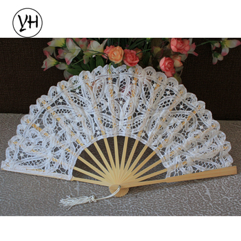 Environmental bamboo lace wedding fan