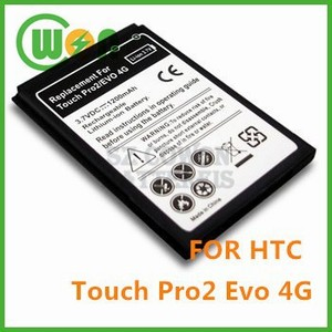 1200mAh Mobile/Cell Phone Battery for HTC EVO 4G, Touch Pro 2