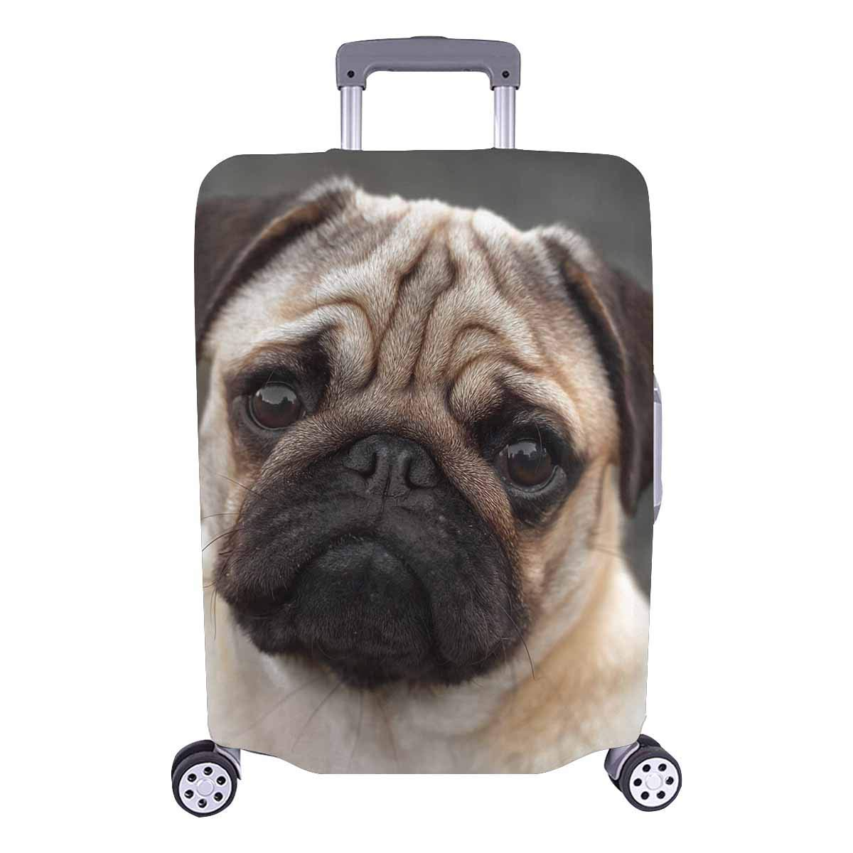 FOLPPLY Vintage Cute Animal Print Luggage Cover Baggage Suitcase Travel Protector Fit for 18-32 Inch