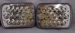 New World Motoring 7X6 H6014 H6052 H6054 LED Hid Cree Light Bulbs Crystal Clear Sealed Beam Headlamp Headlight Pair""