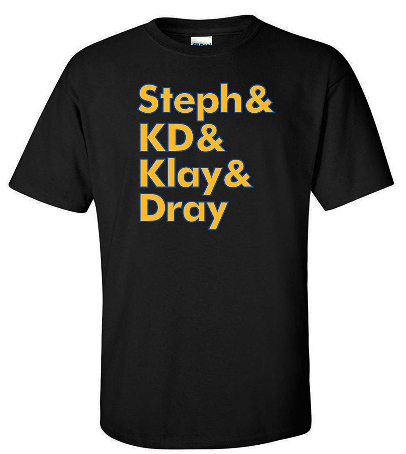 reputable site 36264 34377 Get Quotations · WB SHIRTS Black Golden State KD Steph,KD,Klay,Dray T-Shirt