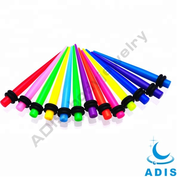 Colorful Candles Acrylic Custom Gauge Ear Expander Taper