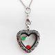 Wholesale Vintage Heart Glass Memory Locket Heart Floating Charms Pendant