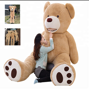 America Giant unfilled Teddy Bear soft Plush Toys unstuffed Skin cover Popular Birthday & Valentines Gifts For Girls Kids Toy