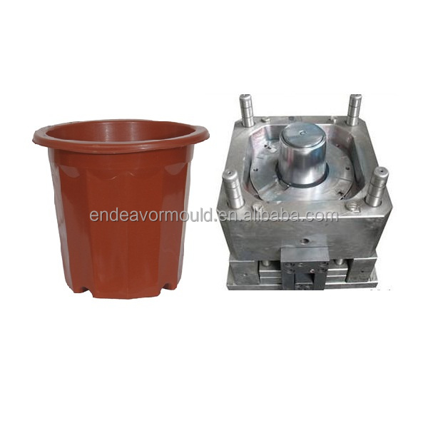 Extrusion blowing pot mould