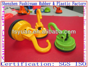 47 58mm vacuum drawing strong super market silicone rubber suction cup sucker with plasticwall strong Bath Hooks