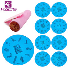 2015 5pcs Stamping Plates and 1 Stamper Scraper  Nail Art Polish Stamp Stencils DIY Nail Art Template Set Manicure Nail