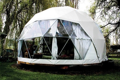 Easy Assembled Any Size Waterproof Metal Frame Geodesic Tent Factory Price Geodesic Dome House