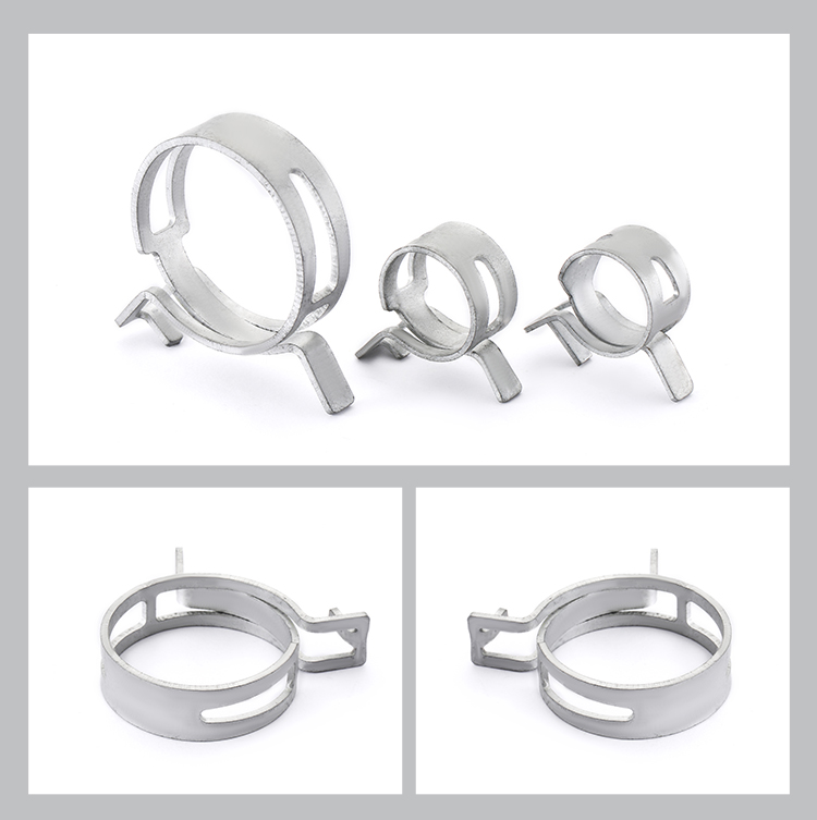 New design durable hose clamp types stainless steel elastic clamp