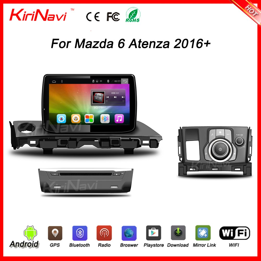 "Kirinavi WC-MZ9016 9"" andriod 6.0 car dvd player for mazda 6 2016 car dvd player 2016 + USB bluetooth"