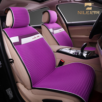 Eco-friendly natural linen fabric dubai well fit popular pu leather plush girly car seat cover