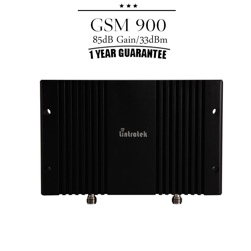 Lintratek GSM 900mhz 85dB Gain 33dBm Large Power Cellphone Signal Booster GSM Mobile Cellular Repetidor Amplificador