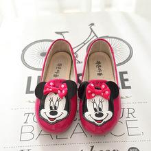 2016 baby cartoon shoes girl cute cartoon shoes Single Bow Shoes Mickey shoes